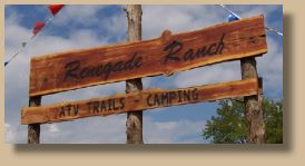 Renagade Ranch ATV Trails in Mena, Arkansas